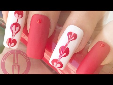 Water marble nail art without water - YouTube