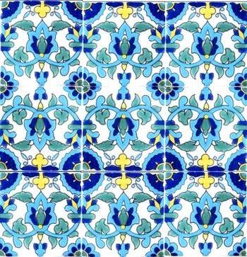 Hand Painted 4 x 4 Decorative Ceramic Tiles midcentury bathroom tile