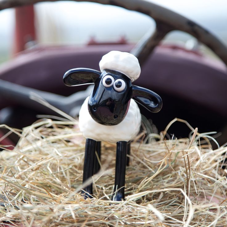 A classic hand painted Shaun the Sheep figurine - visit http://www.wallaceandgromitcharityshop.org.uk/collections/shaun-in-the-city-1/products/shaun-the-sheep-figurine for more details.