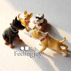 6 очков BJD Аксессуары для 12 точек Сиван мини кукольный дом подпирает имитационной модели животных 4 лай собаки костюм