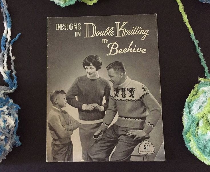 Vintage:  Designs in Double Knitting by Beehive, Patons & Baldwins, For Adults and Children, Series No. 84 by ABlueHerronCreation on Etsy