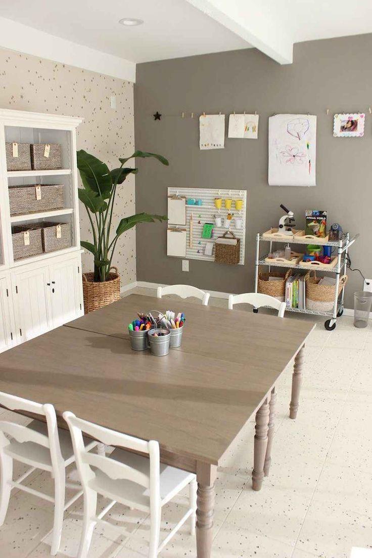 47 Stunning Basetment Playroom Ideas for Kids