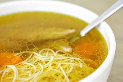 Grandma often made her own Chicken soup and made her noodles from scratch...they had a unique consistency and probably alittle doughy for today's cooks, but we liked them.