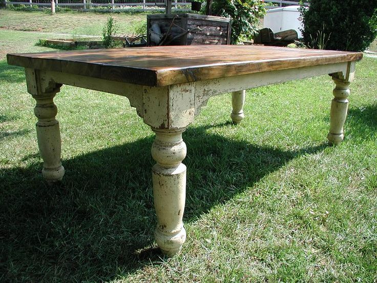 The Louden Furniture Companys Stockton Farm Table In Wild Honey