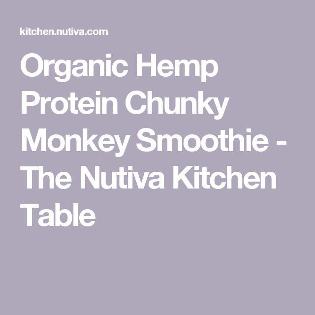 Organic Hemp Protein Chunky Monkey Smoothie - The Nutiva Kitchen Table