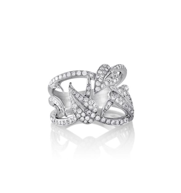 Stephen Webster 18K White gold and Diamonds Fly By Night Poison Ivy Band