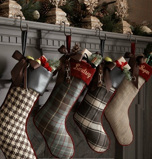 I like that these stockings all have different, yet complimentary patterns/colors