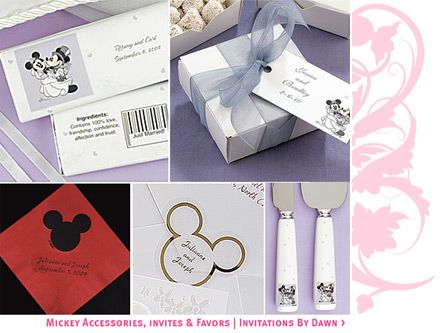 Mickey Mouse Table Cards For Wedding Setting