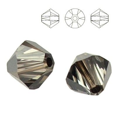 5328 Bicone 6mm Silver Night 10 pieces  Dimensions: 6,0mm Colour: Crystal Silver Night 1 package = 10 pieces