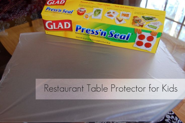 Glad Pressn'Seal as Restaurant Table Protector for Kids