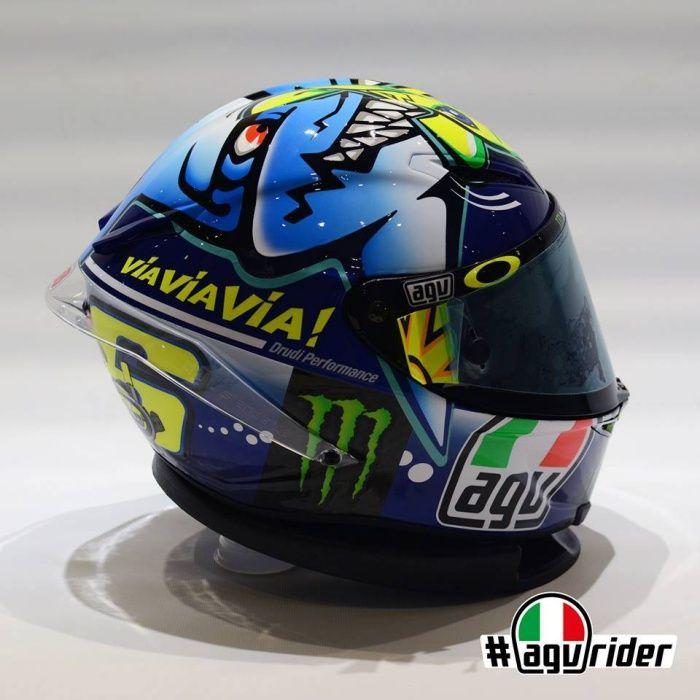 AGV Corsa Valentino Rossi Shark helmet (Misano 2015)