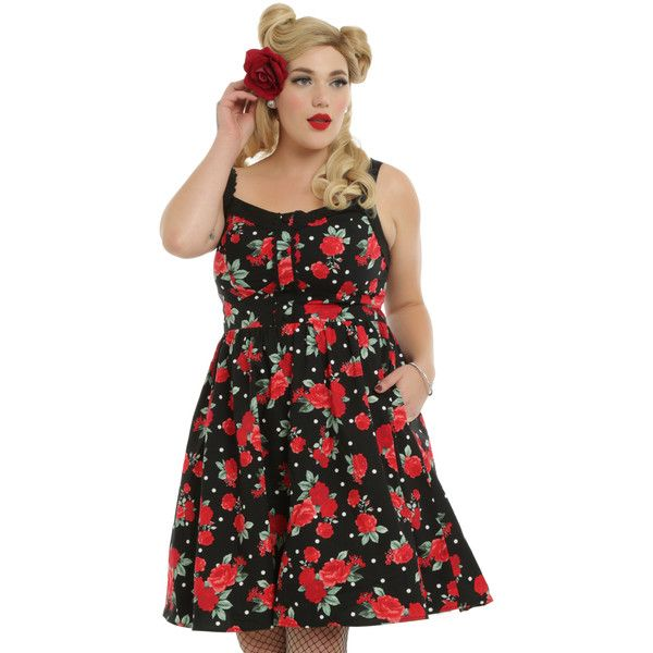 Hot Topic Black Floral Swing Dress Plus Size ($60) ❤ liked on Polyvore featuring plus size women's fashion, plus size clothing, plus size dresses, floral lace dress, crochet dress, plus size floral dresses, lace swing dress and floral swing dress