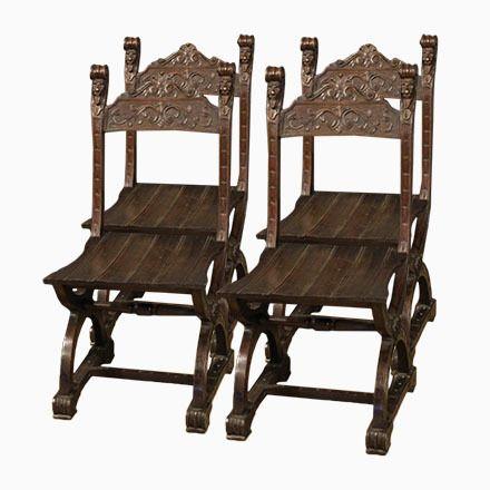 Französische Eichenholz Stühle, 1950, 4er Set Jetzt Bestellen Unter:  Https://