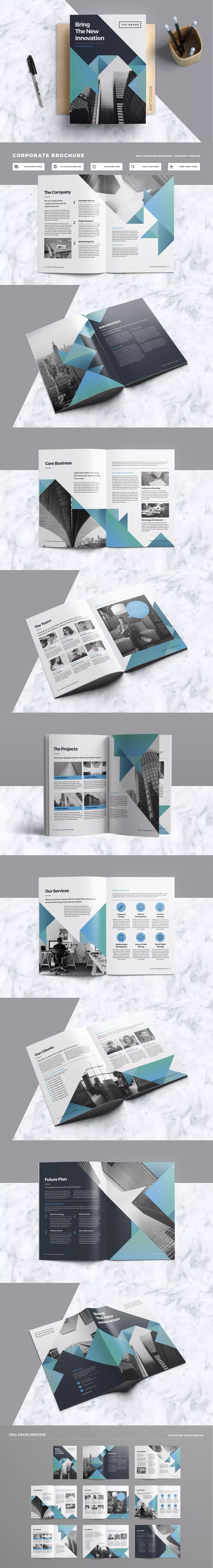 Brochure Template InDesign INDD - A4 & US Letter Size
