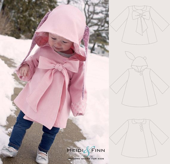 Chic Cocktail Swing Coat pattern and tutorial by heidiandfinn, $7.49