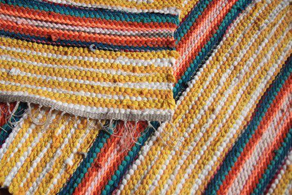 Yellow Colorful Rug Bath Mat Throw