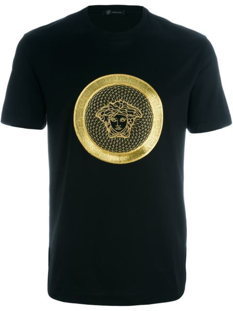 VERSACE Embroidered Medusa T-Shirt. #versace #cloth #t-shirt