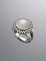 Moonlight Ice Cerise Earrings, Mabe Pearl, 10mm | Women Earrings | David Yurman Official Store