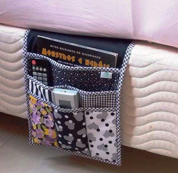 Organizador de tecido para camas ou braço de sofá