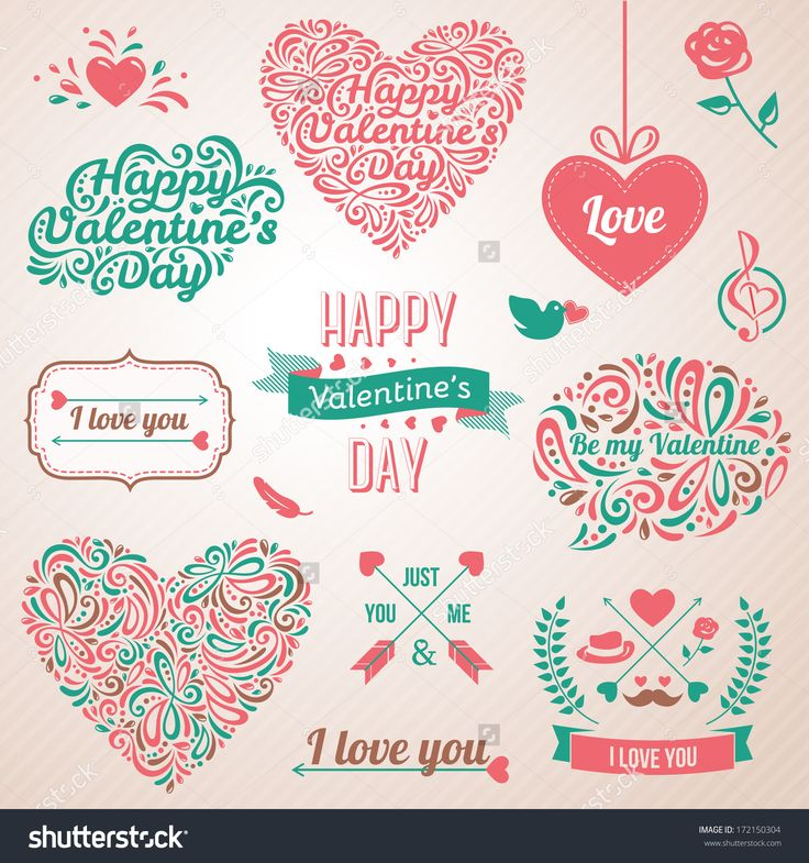 Best ValentineS Day Images On   Penmanship Vector