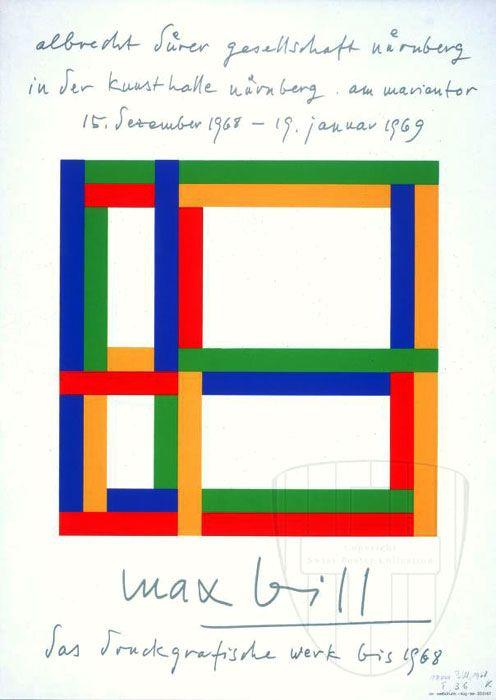 Max Bill, 1908 -1994,  Architecte, peintre, sculpteur, éditeur, théoricien de l'art et homme politique suisse.