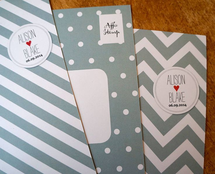 A5 invitation set backs in green/grey on white card