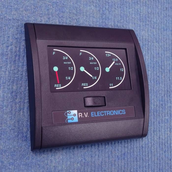 Rv Electronics Lcd 2 Tank Water Level Indicator And