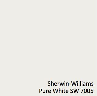 Sherwin-Williams Pure White SW 7005, Wall Color using either the Emerald or Duration Line, matte or satin sheen TBD by client