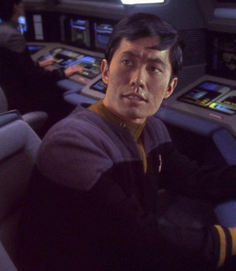 Star Trek Fan Art - Sulu gettin' his navigation on in a DS9-era uniform!!                                    http://buyactionfiguresnow.com