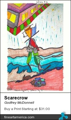 Another Odnex wants your vote please. Steve turned a silly random pencil sketch Into a great picture fro me of. A scarecrow walking home in the rain under a rainbow.  Thank you Godfrey AKA Eggomaister.