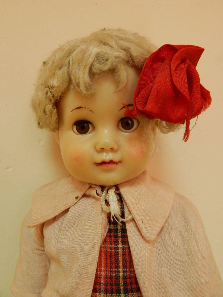 Кукла старинная ,паричковая СССР . Московская фабрика 8 марта .Очень редкая !1950 - е годы.