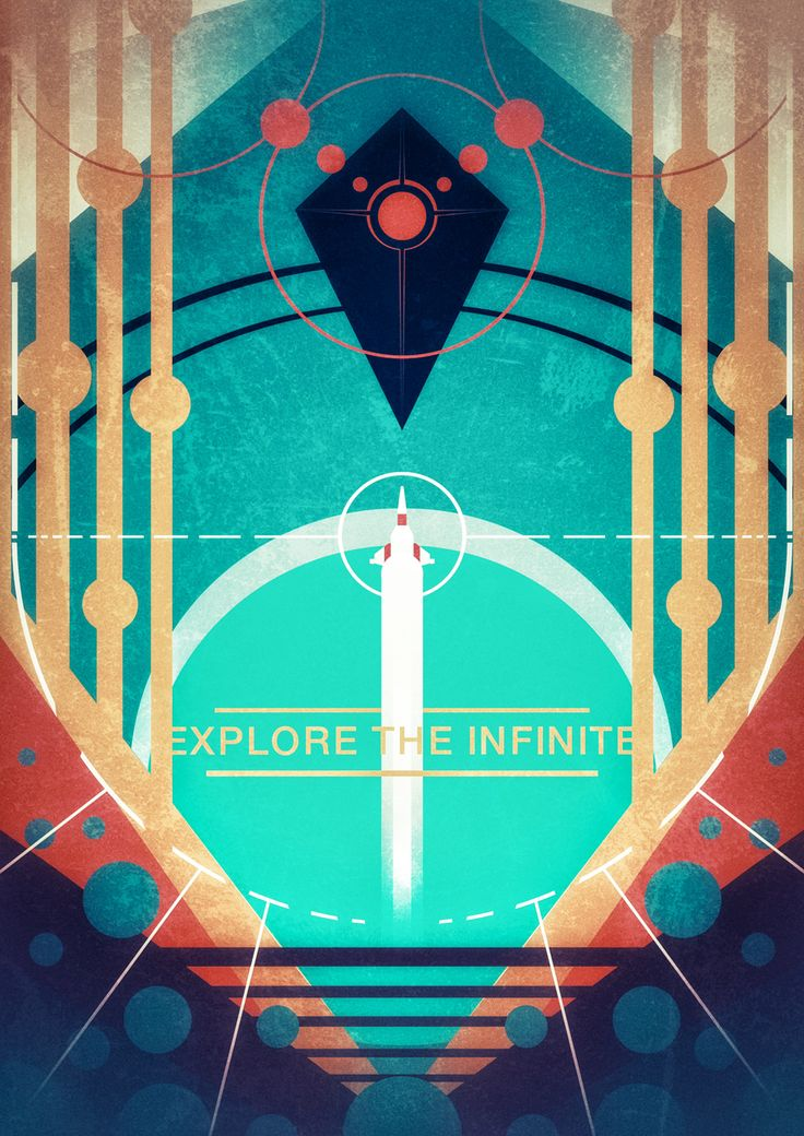 Explore the Infinite: A No Man's Sky-Inspired Minimalist Poster - Lazare Gvimradze