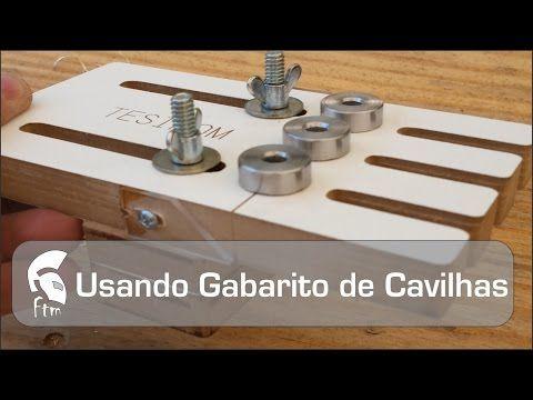 Como fazer gabarito para cavilha - Marcenaria artesanal - YouTube