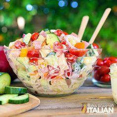 Hawaiian Tortellini Salad - MasterCook