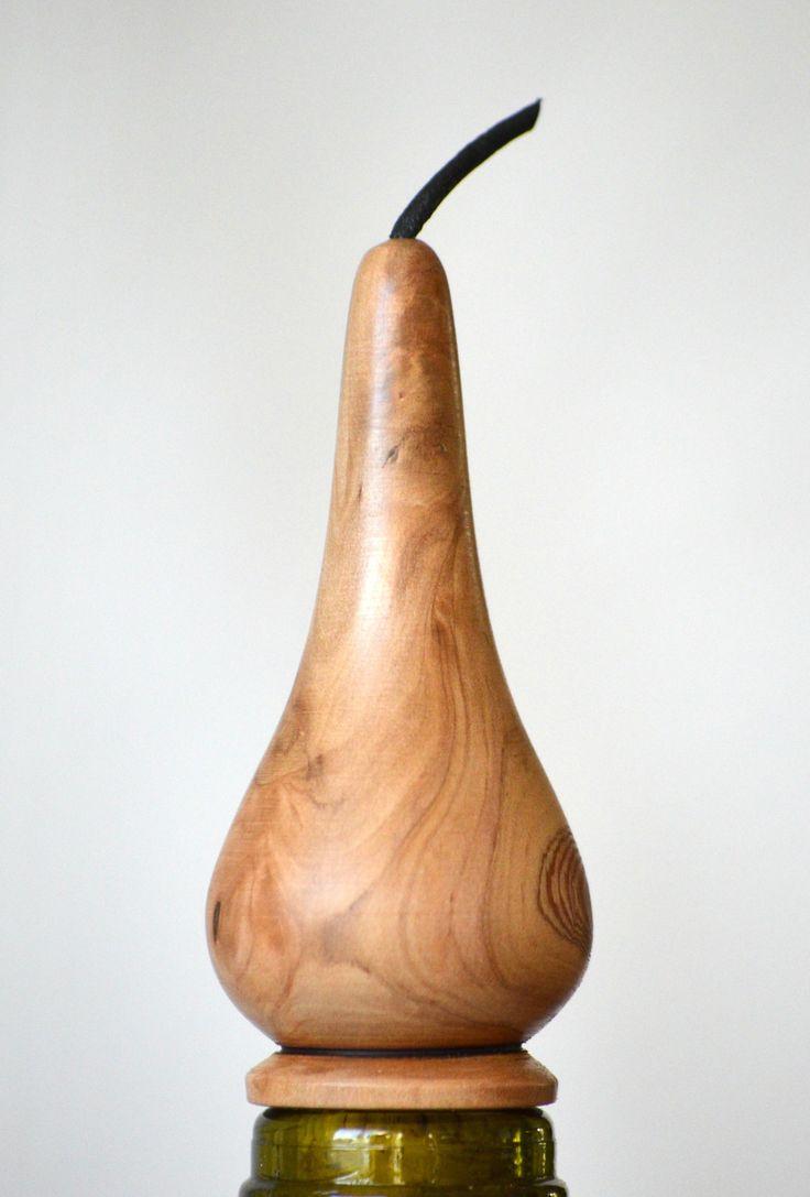Bouchon de bouteille écologique et artisanal en bois tourné : Accessoires de maison par lolotourneur-tournage-sur-bois