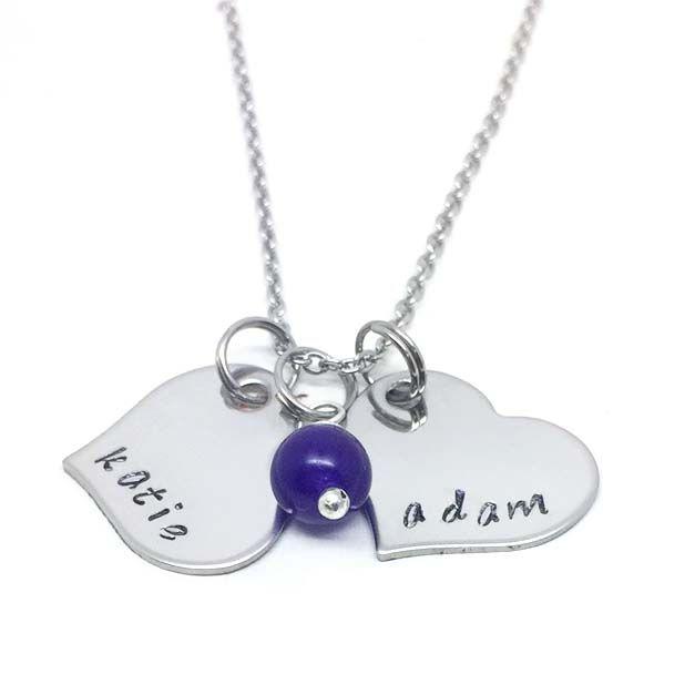 Personalised Love Heart Necklace - Theta Jewellery