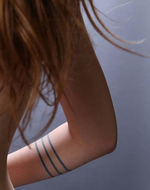 three line armband tattoo üç çizgi kol bandı dövmesi