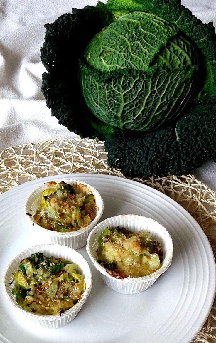 Tortini di Verza ai semi di lino dorati