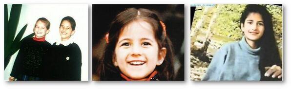 Katrina's early years, always flashing that smile