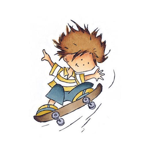 Marianne Design Clear Stamp Don  Daisy - Skateboard Don DDS3307