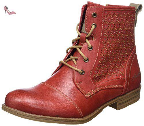 Mustang 5026-607, Bottes Classiques fille, Rouge (5 rot), 37 EU