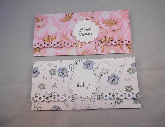 5 money holder envelopes floral design cash envelopes birthday