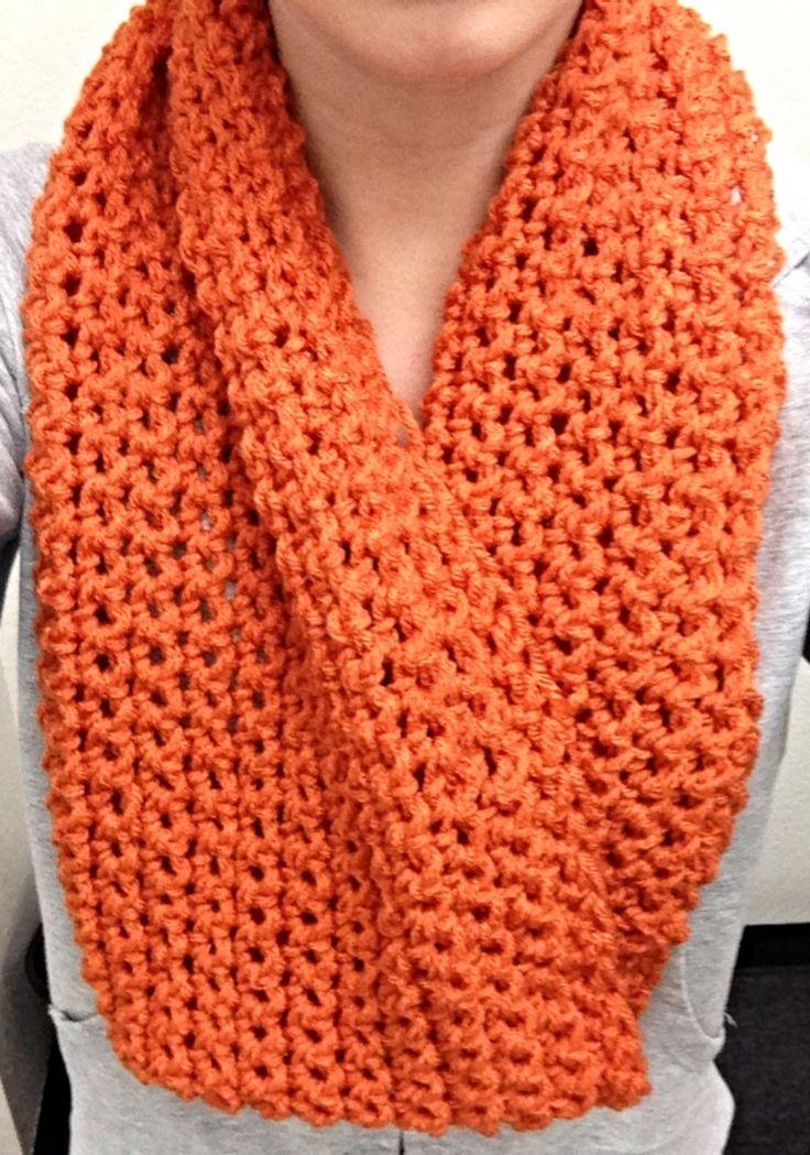 Orange. Single crochet infinity scarf. | CATY | Pinterest ...