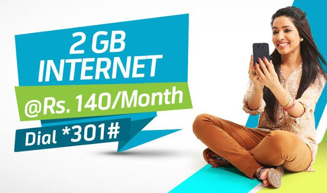 Telenor Monthly 2GB Internet Package    Now you can enjoy 2GB mobile internet for the whole month in just Rs. 140 plus tax. Details are written below  Mobile      Data: 2 GB  1 GB Pocket TV  Validity:      30 Days  Subscription      Code: Dial:301#  Charges:      Rs. 140  tax  Fair Policy  Both      djuice and talkshawk customers can subscribe  Offer      is available with 4G speed but where there is no access or a mobile set is      not supported with 4G will run 3G and or 2G speed…