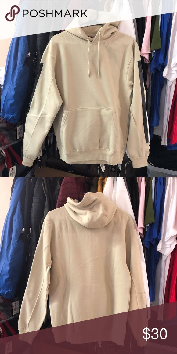 Color Block Hoodie - Beige SuperlineATL   Exclusive print  Premium Cotton 80% Cotton / 20% Polyester   Finished in USA   Runs Small  Size Up a Whole Size Suggested Retail Price: $69.99 Sweaters