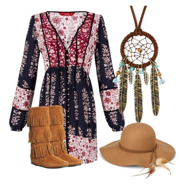 """""""Autumn gypsy"""" by neongypsynz on Polyvore featuring Minnetonka, Steve Madden and Decree"""