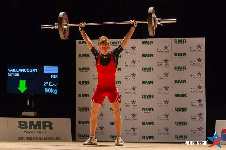 Simon Vaillancourt - Haltérophilie - catégorie 62kg - Jeux du Québec 2017 médaillé d'argent
