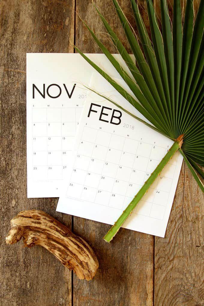 18 Free Printable 2018 Calendars To Kick Start The New Year School