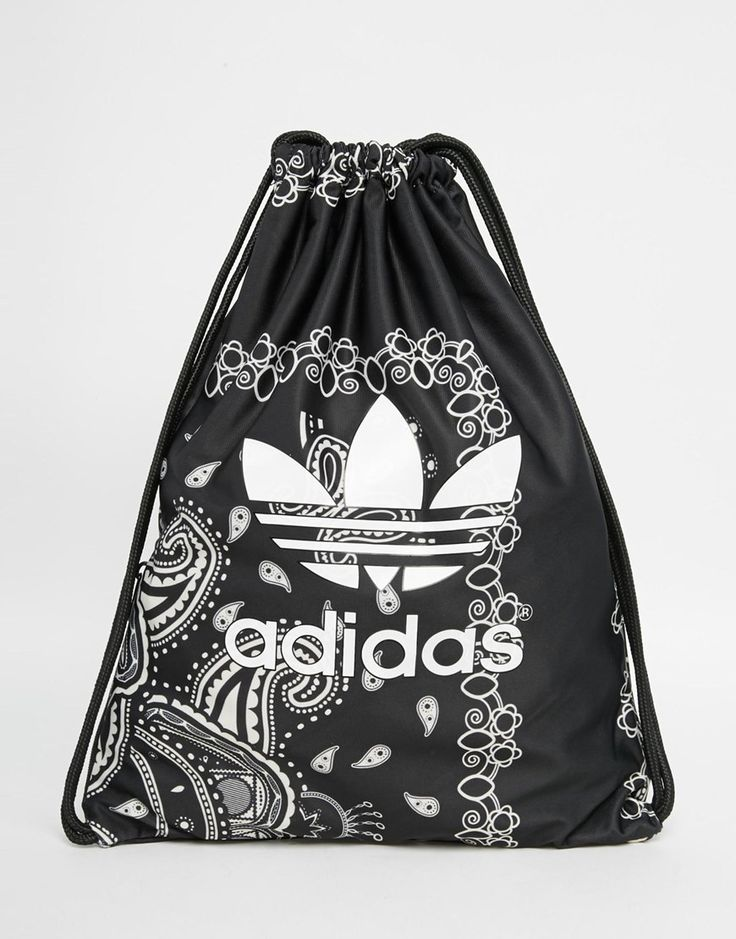 adidas Originals Paisley Print Drawstring Backpack - one of the three adidas bags on this board