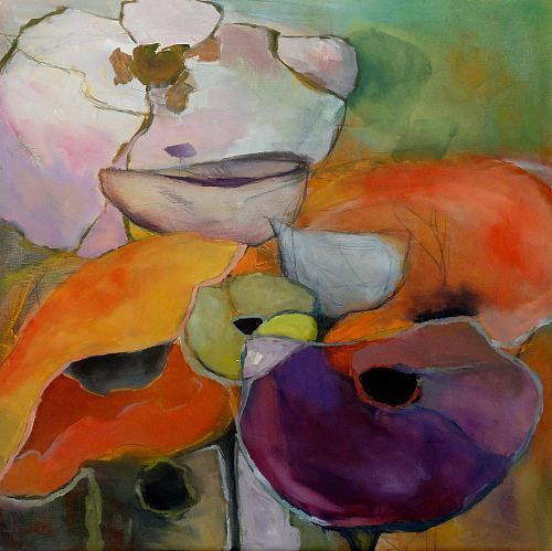 """Angela Fusenig, """"Gemeinsam II"""" Mit einem Klick auf 'Als Kunstkarte versenden' versenden Sie kostenlos dieses Werk Ihren Freunden und Bekannten."""